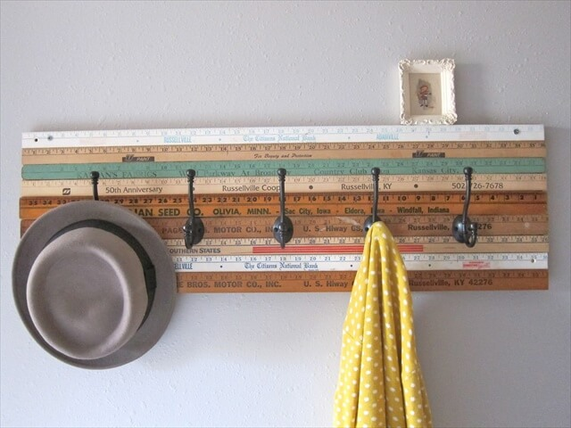 Brown Ruler Wooden Coat Rack