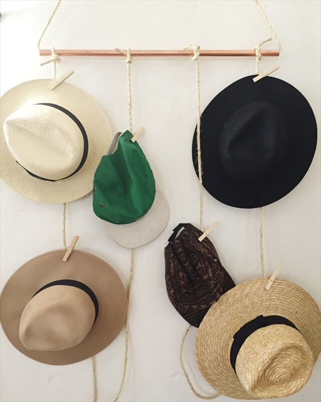 designer-inspired hat rack without shelling out the big bucks to do so. You'll love this quirky idea!