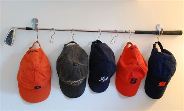 Golf Club Hat Rack