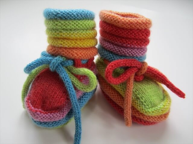 Gift Of Knitted Baby Booties