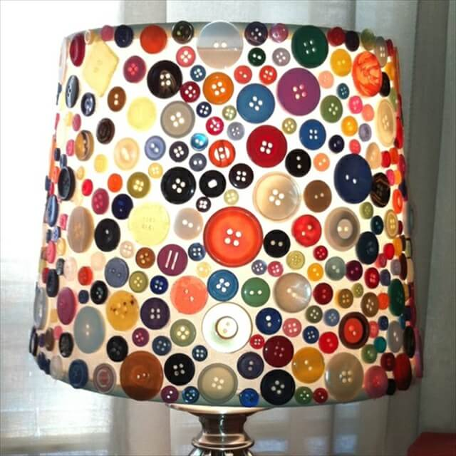 amazing button lampshade