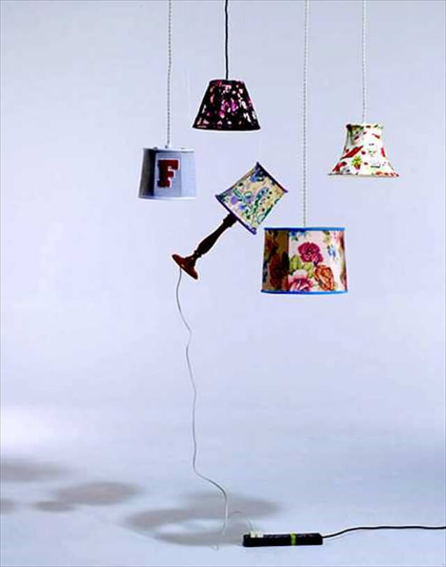 colorful lamp shades made