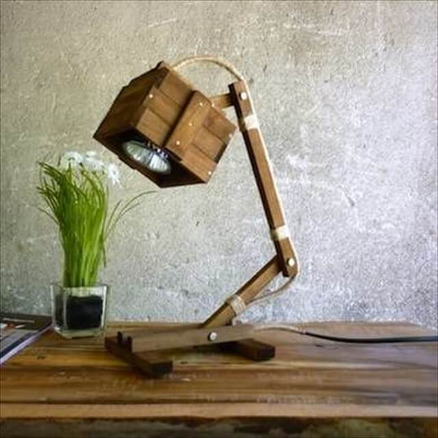 diy wooden lamp