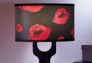 diy lipstick lampshade