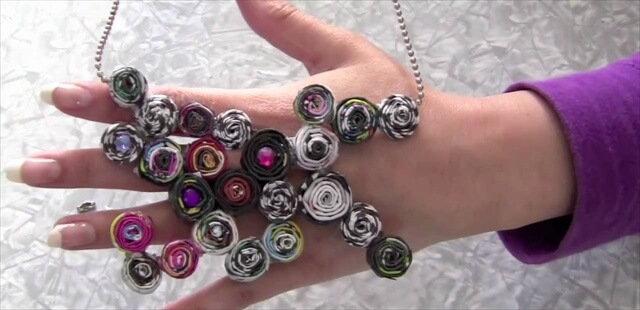 Recycled magazine Jewelry Made Easy!
