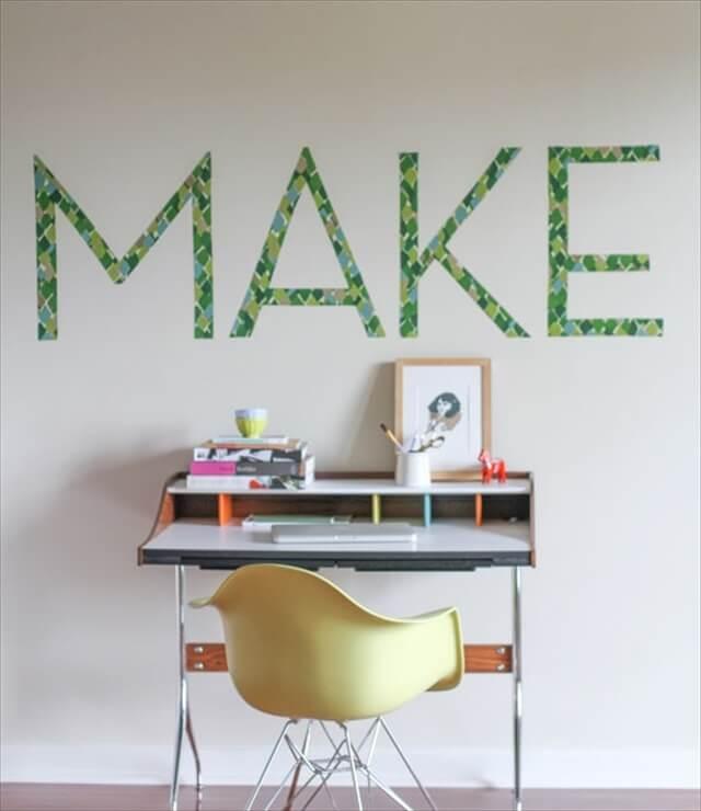 Fabric Typography Wall Art