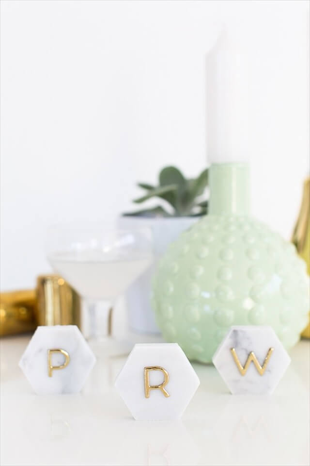 Marble and Gold Place Cards