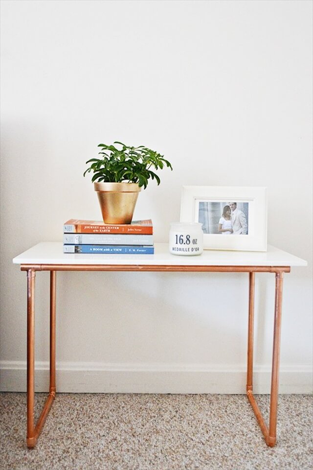 Marble and Copper Table
