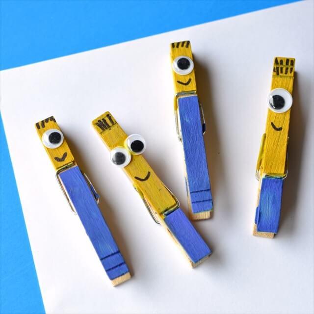 minion clothespins square