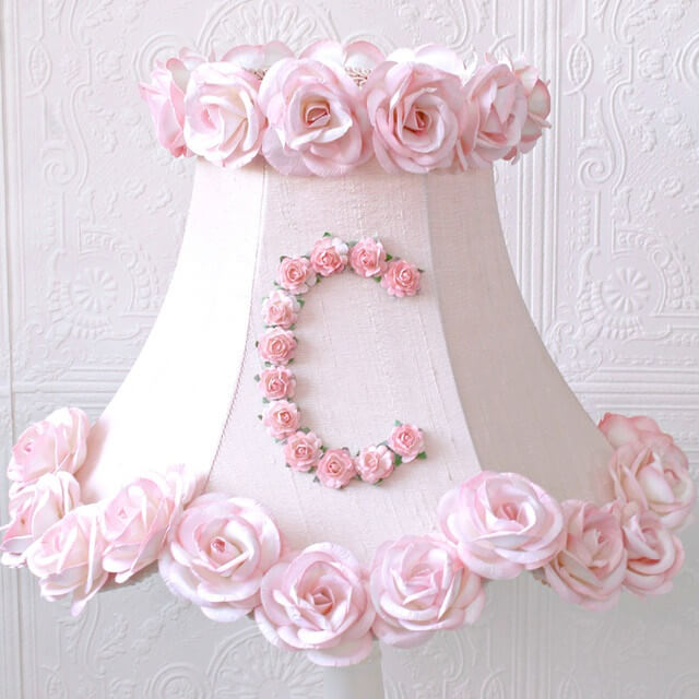 Personalized Monogram Pink Lamp Shade