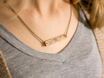 Elegant Hardwood Necklace
