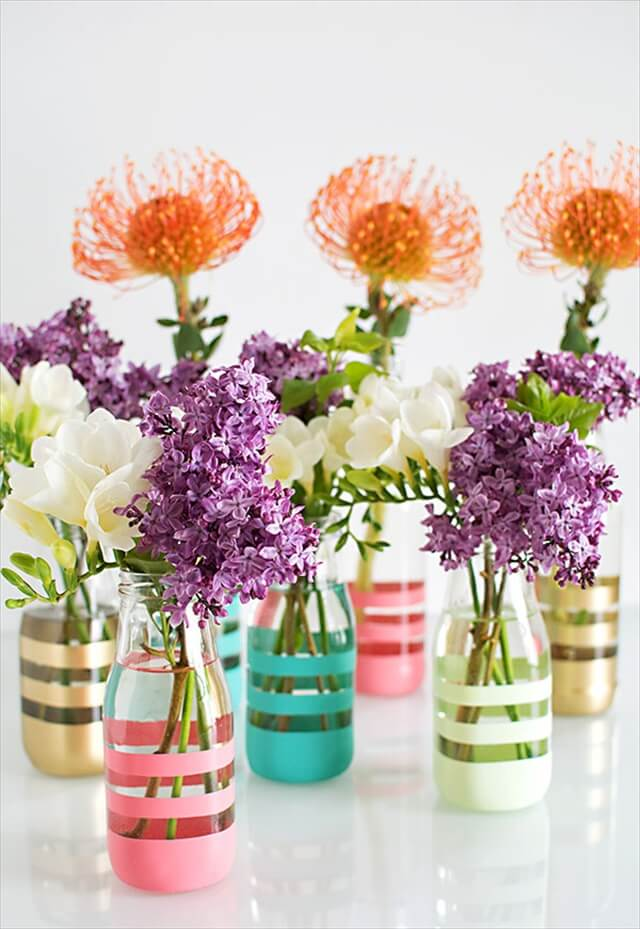 Colorful Striped Vases