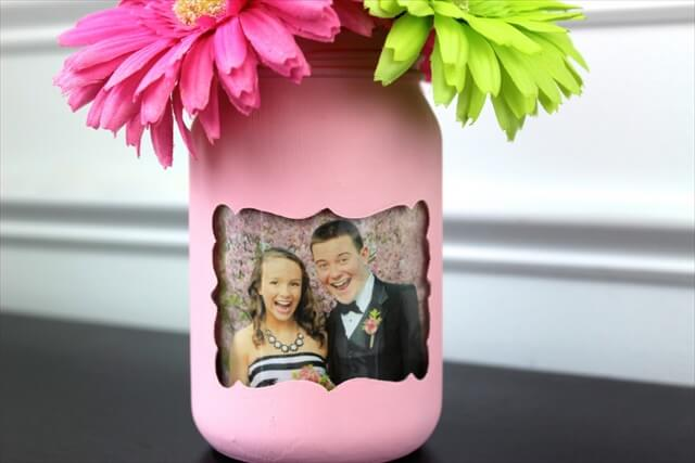 DIY Picture Frame Mason Jar