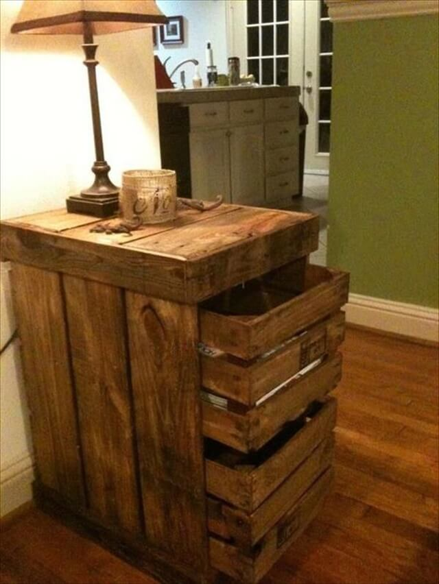 diy pallet nightstnad