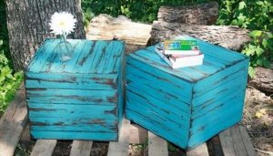 nice pallet side table