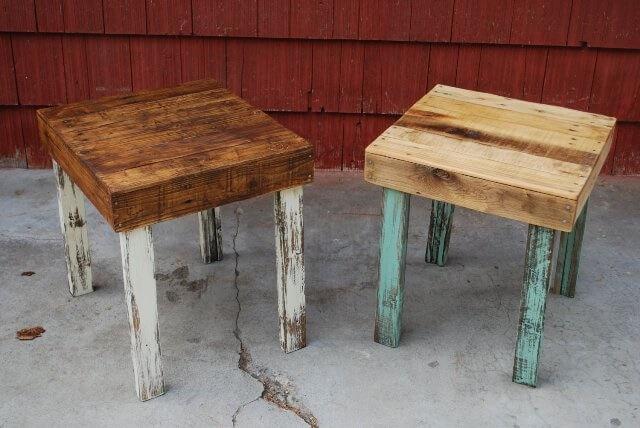 pallet side tables design