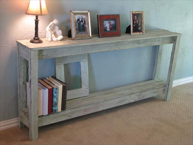 26 diy pallet side table diy to make for Sofa table made from pallets