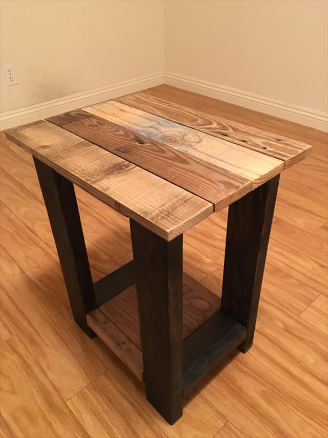 26 diy pallet side table diy to make for Pallet end table
