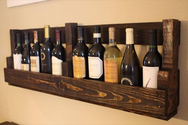 Pallet Wine Rack.
