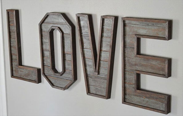 32 small woodworking projects diy to make for Wooden letters for crafts