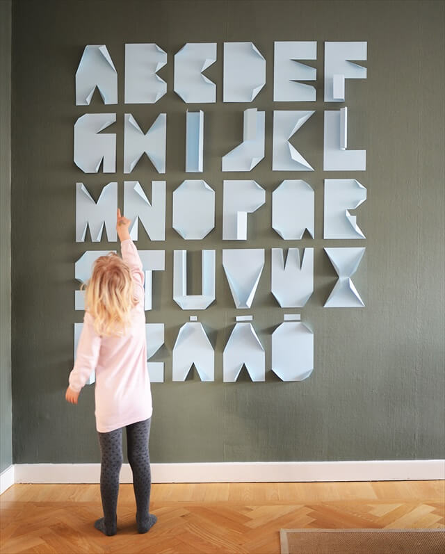 Folded Paper Alphabet