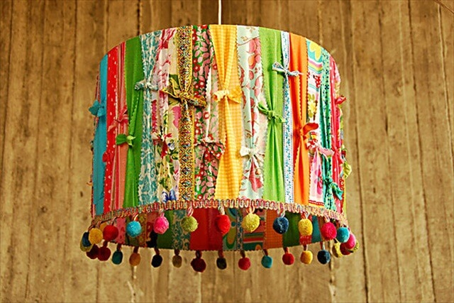 Colorful eco-friendly lampshades