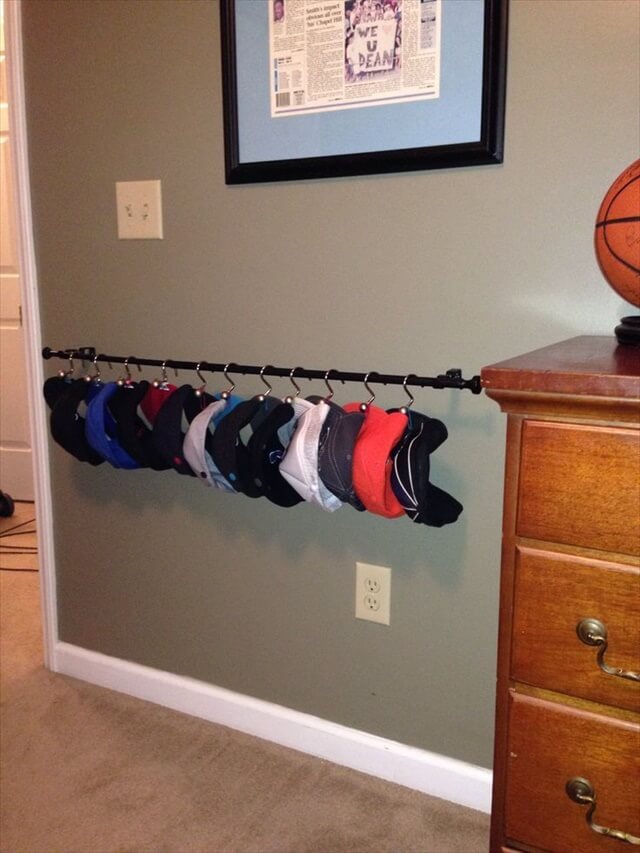 wall mounted hat racks for baseball caps rack
