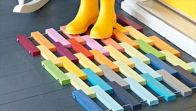Rainbow Floor Mat