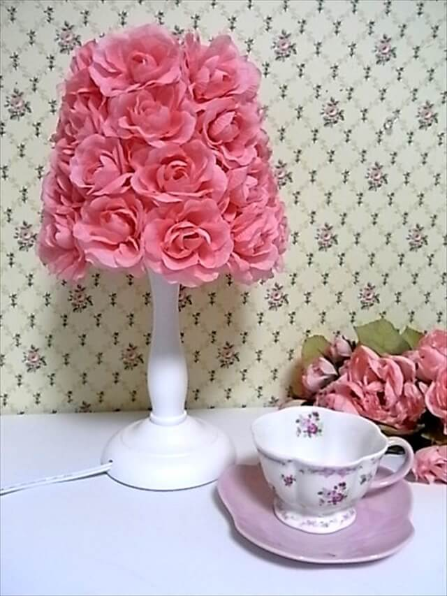 DIY flower lamp shade