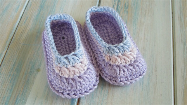 Crochet Simple Baby Booties