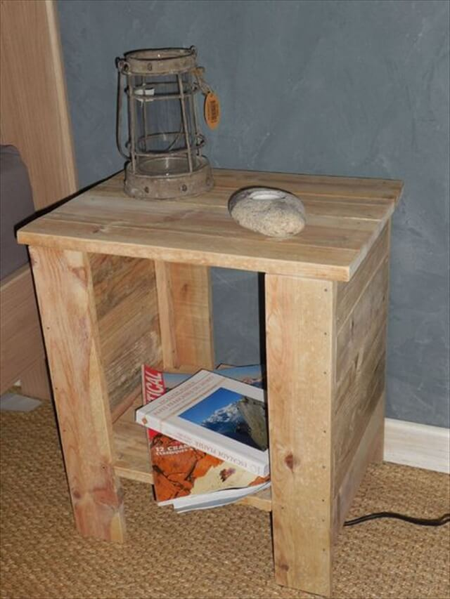Nightstand With Drawers And Shelf