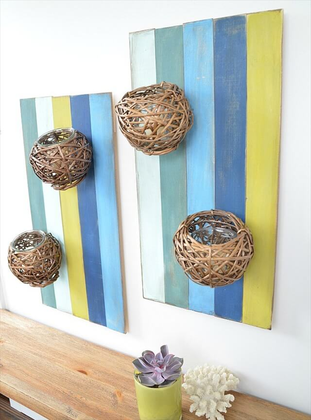 15 diy wood decor projects diy to make for Diy wall decor projects