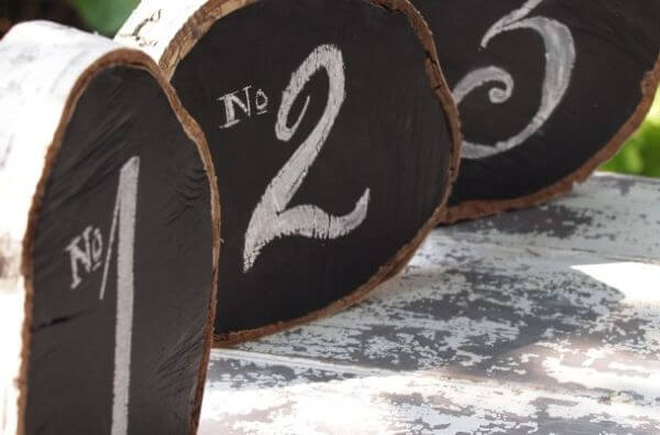 Birch Log Table Numbers.