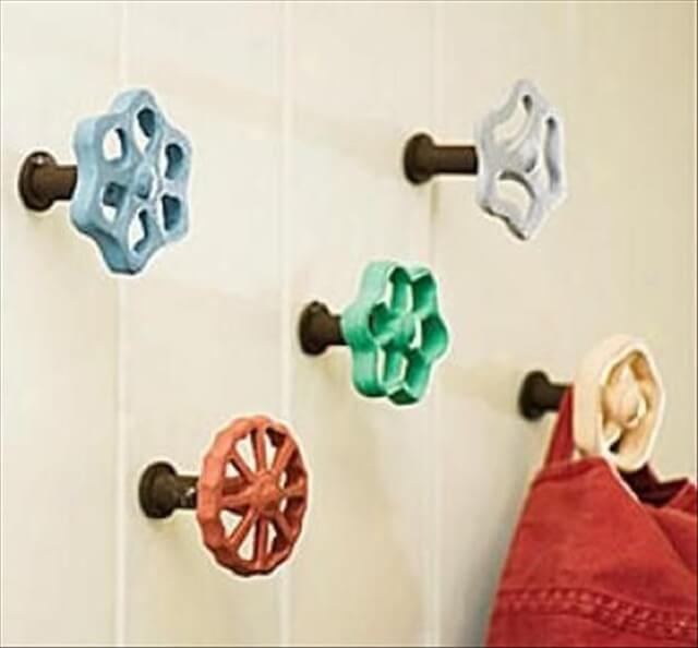 These DIY wall hooks just go to show with a bit of imagination you can turn anything into a decorative hook
