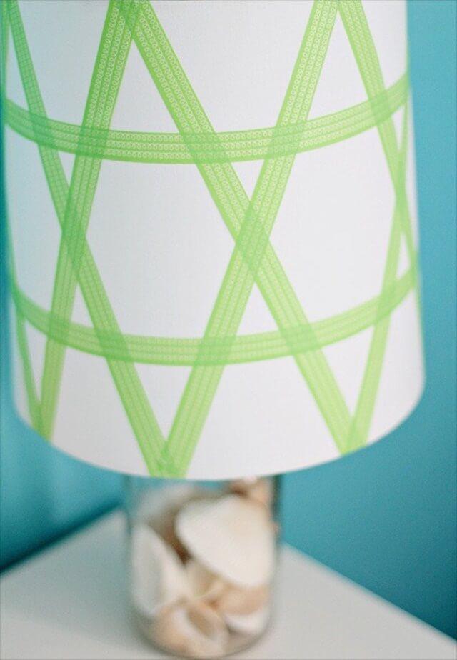 diy tape lampshade