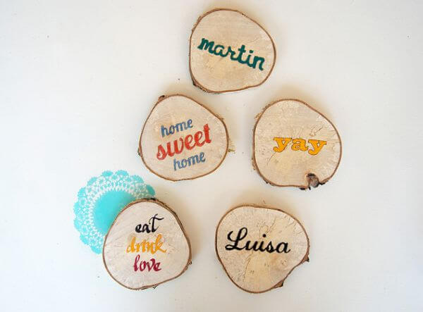 Wood coasters.