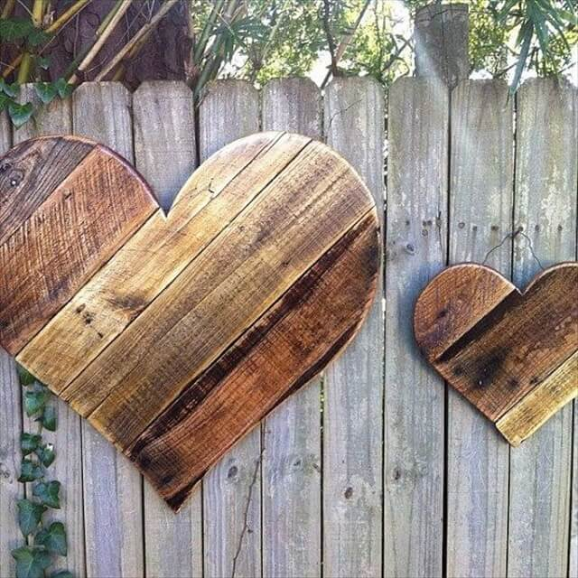 Rustic Reclaimed Wood Hearts