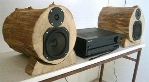 DIY Wood Log Speakers: