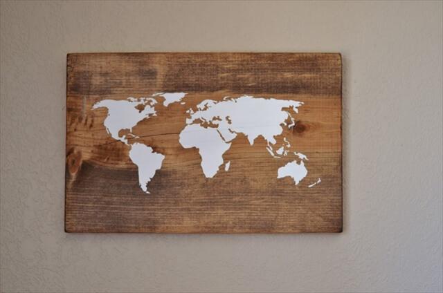DIY wood map