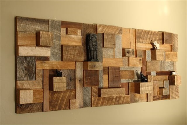 12 Cool DIY Wood Project Ideas DIY to Make : wood wall decorating ideas from www.diytomake.com size 640 x 427 jpeg 44kB