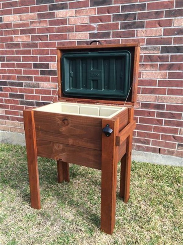 diy recycled outdoor cooler design