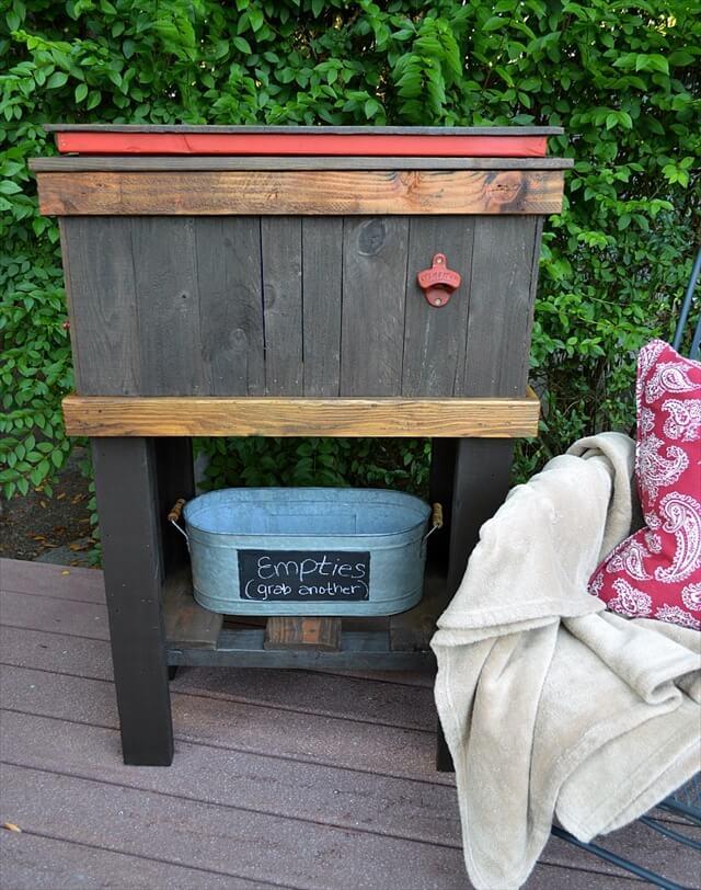 DIY Wood Deck Cooler