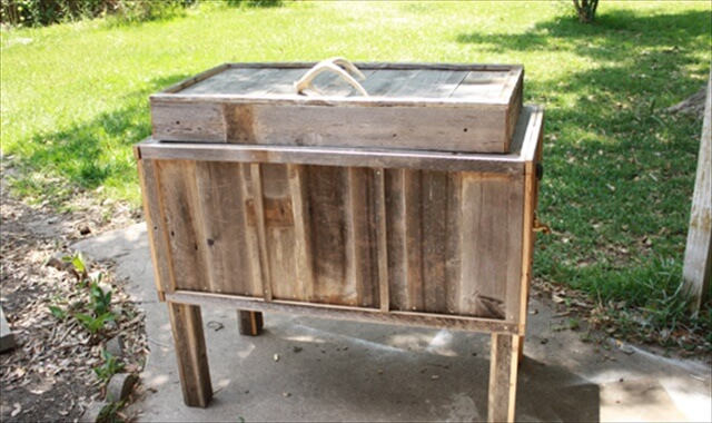 diy amazing pallet cooler