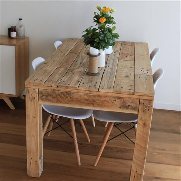 58 diy pallet dining tables diy to make for Diy dining table