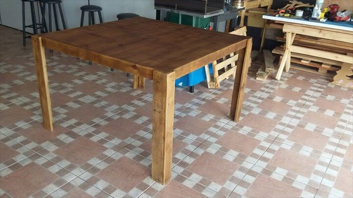 finish pallet dinign table