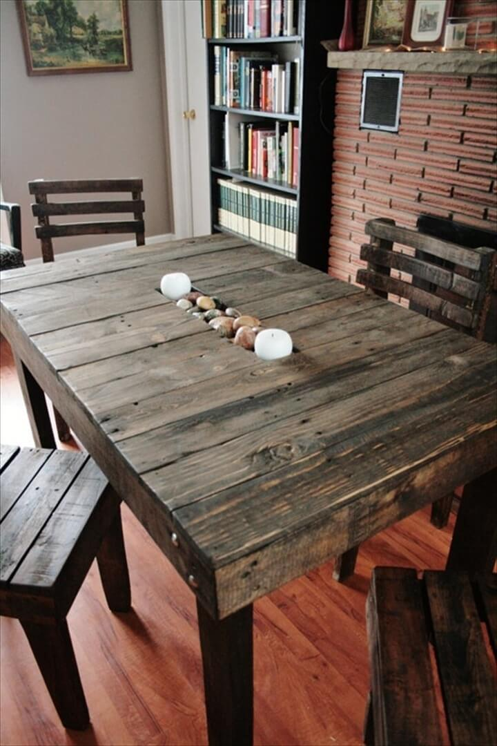 simple pallet dining table