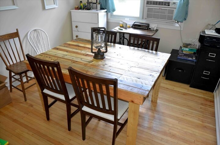 Nice Pallet Dining Table Design