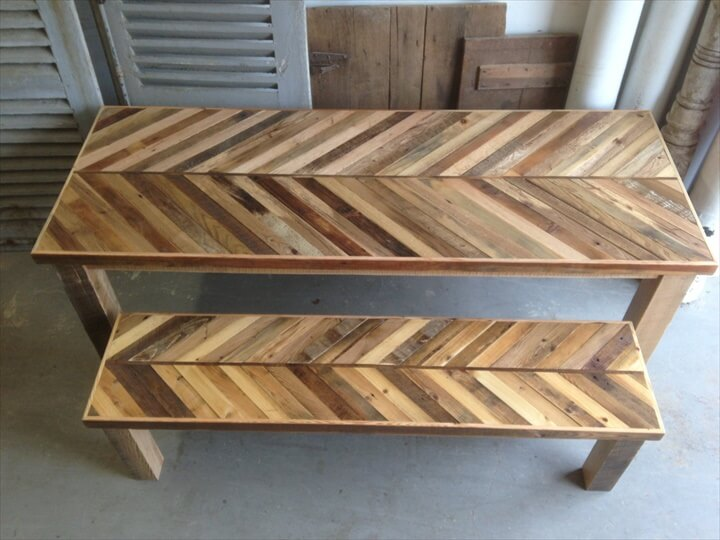 58 DIY Pallet Dining Tables DIY to Make : reclaimed pallet dining table from www.diytomake.com size 720 x 540 jpeg 68kB