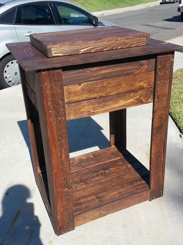 Rustic Beer Cooler Side Table