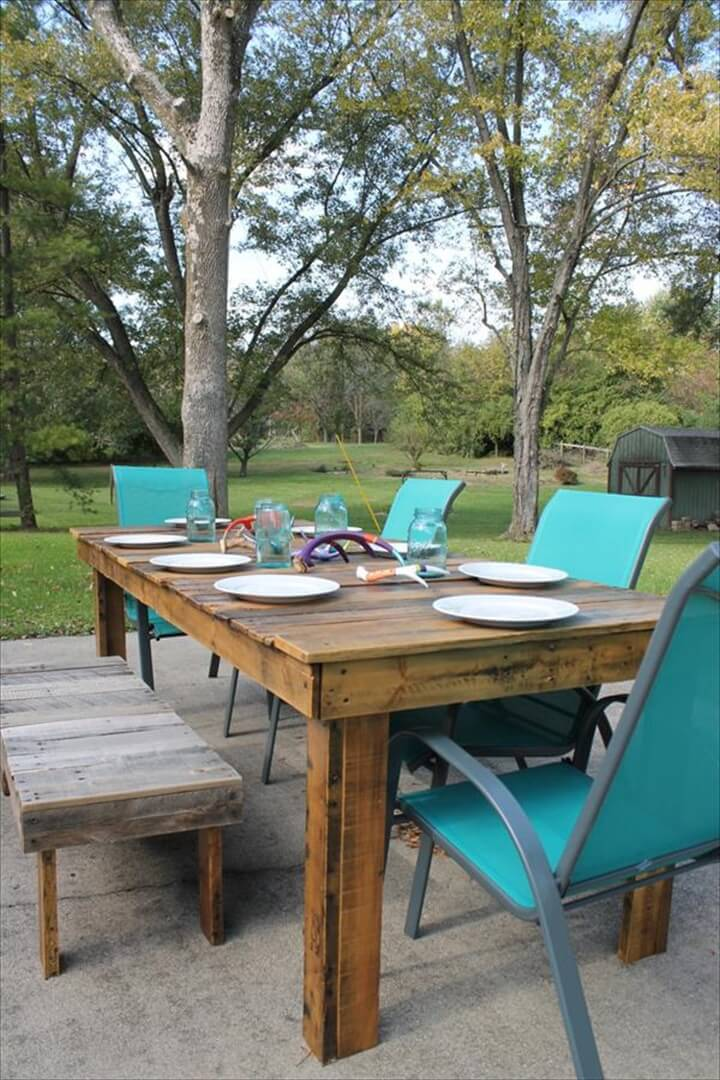 58 Diy Pallet Dining Tables